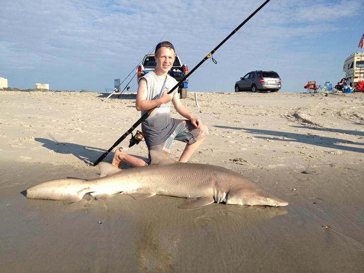 jared hannah 187 lb sand tiger shark